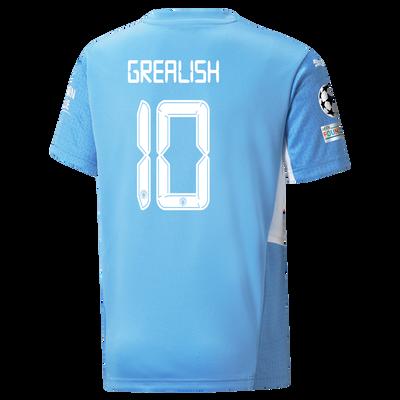 Kids Manchester City Home Shirt 21/22 with Jack Grealish printing