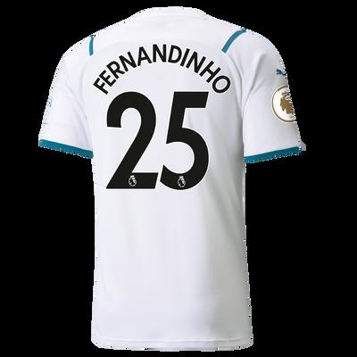 Manchester City Away Shirt 21/22 with Fernandinho printing