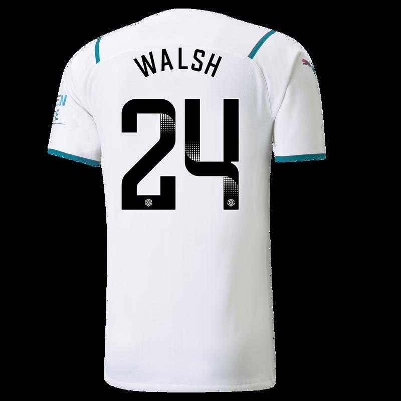 MCFC MW MENS AWAY AUTHENTIC SL SHIRT SS-WALSH-WSL-WSL-TRUE -