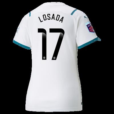 Womens Manchester City Away Shirt 21/22 with Vicky Losada printing