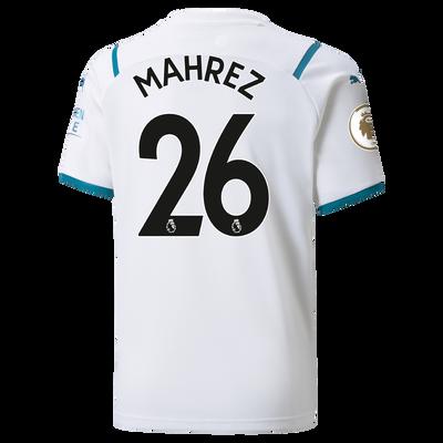 Kids Manchester City Away Shirt 21/22 with Riyad Mahrez printing