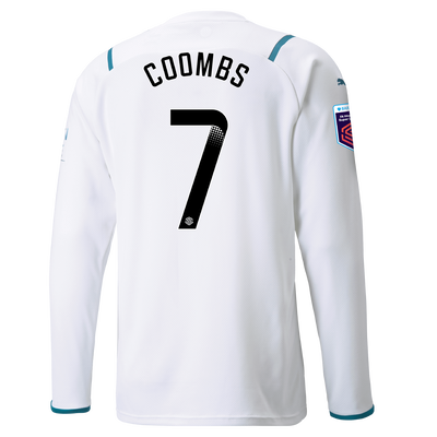 Manchester City Away Shirt Long Sleeve 21/22 with Laura Coombs printing