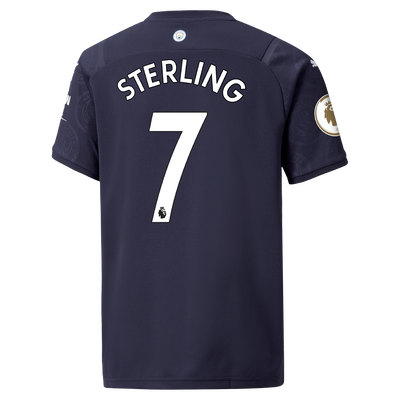 Kids Manchester City 3rd Shirt 21/22 with Raheem Sterling printing