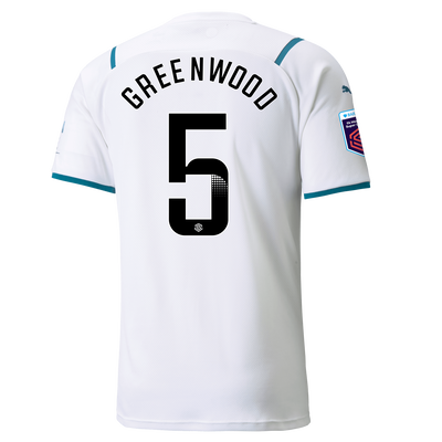 Manchester City Away Shirt 21/22 with Alex Greenwood printing