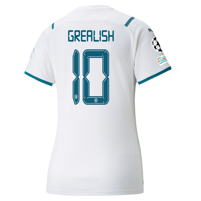 Womens Manchester City Away Shirt 21/22 with Jack Grealish printing