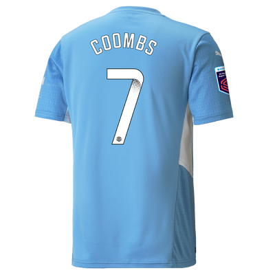 Manchester City Home Shirt 21/22 with Laura Coombs printing
