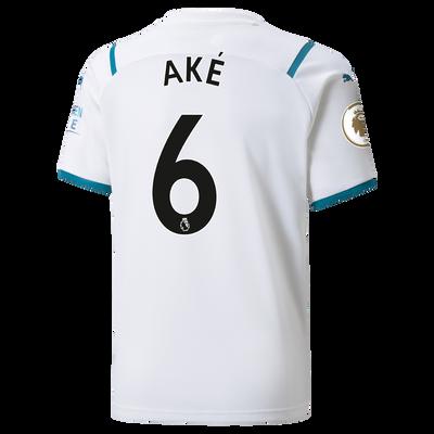 Kids Manchester City Away Shirt 21/22 with Nathan Aké printing