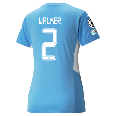 Womens Manchester City Home Shirt 21/22 with Kyle Walker printing