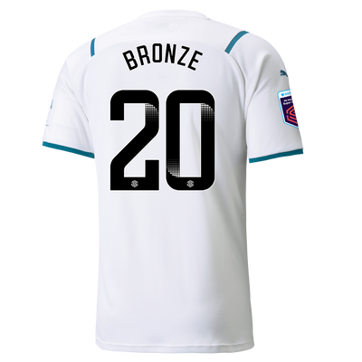 Manchester City Away Shirt 21/22 with Lucy Bronze printing
