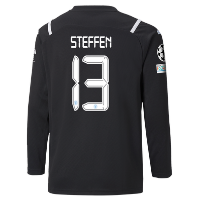 Kids Manchester City Goalkeeper Shirt 21/22 with Zack Steffen printing