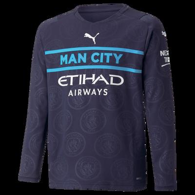 Kids Manchester City 3rd Shirt Long Sleeve 21/22