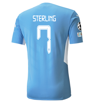 Manchester City Home Authentic Shirt 21/22 with Raheem Sterling printing