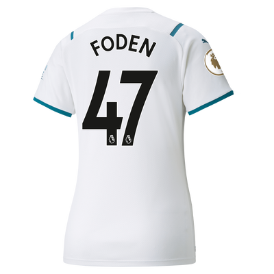 Womens Manchester City Away Shirt 21/22 with Phil Foden printing