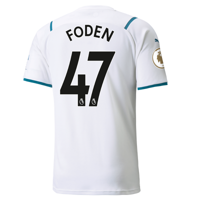 Manchester City Away Shirt 21/22 with Phil Foden printing
