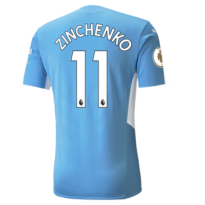 Manchester City Home Authentic Shirt 21/22 with Oleksandr Zinchenko printing