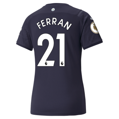 Womens Manchester City 3rd Shirt 21/22 with Ferran Torres printing