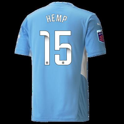 Manchester City Home Shirt 21/22 with Lauren Hemp printing