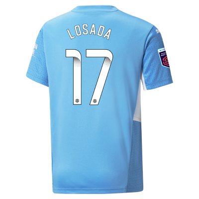 Kids Manchester City Home Shirt 21/22 with Vicky Losada printing