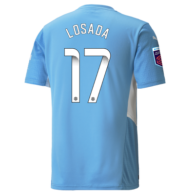Manchester City Home Shirt 21/22 with Vicky Losada printing