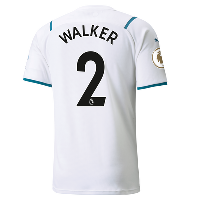 Manchester City Away Shirt 21/22 with Kyle Walker printing