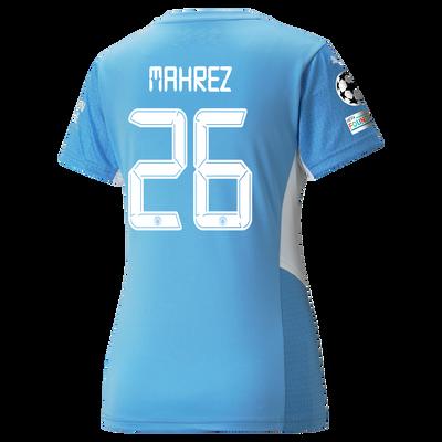Womens Manchester City Home Shirt 21/22 with Riyad Mahrez printing
