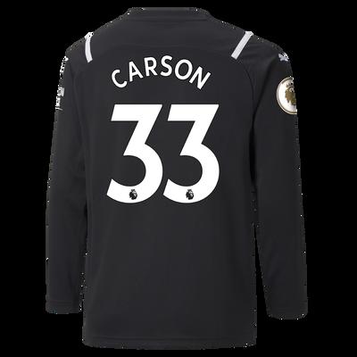 Kids Manchester City Goalkeeper Shirt 21/22 with Scott Carson printing