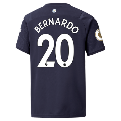 Kids Manchester City 3rd Shirt 21/22 with Bernardo Silva printing