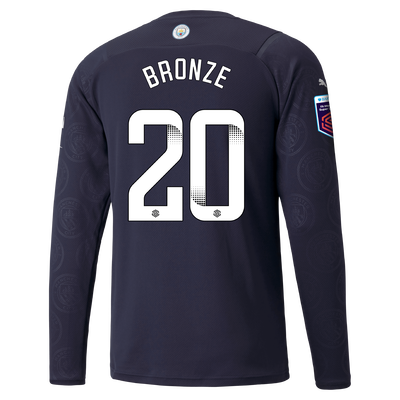 Manchester City 3rd Shirt Long Sleeve 21/22 with Lucy Bronze printing