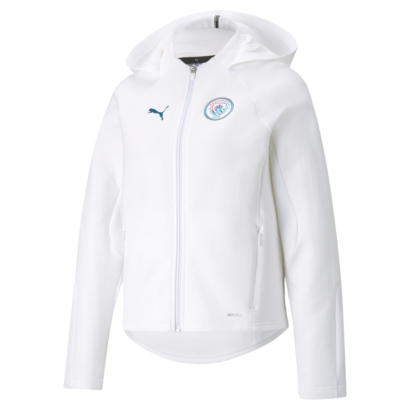 MCFC LW WOMENS CASUALS HOODED JACKET - white