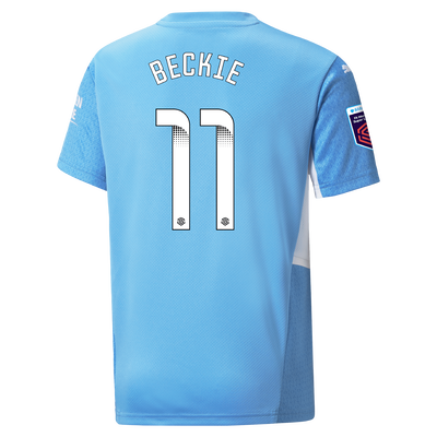 Kids Manchester City Home Shirt 21/22 with Janine Beckie printing