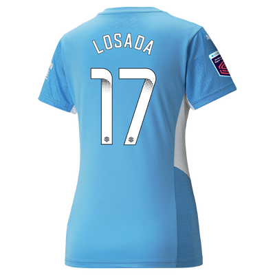 Womens Manchester City Home Shirt 21/22 with Vicky Losada printing