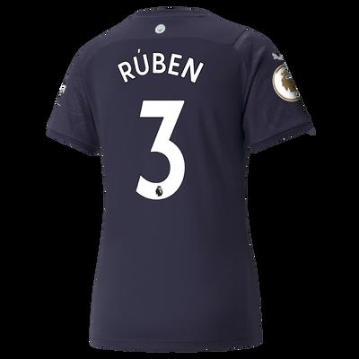 Womens Manchester City 3rd Shirt 21/22 with Rúben Dias printing