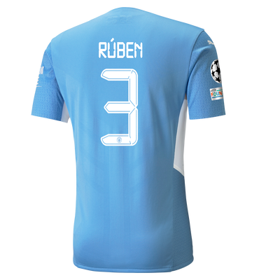 Manchester City Home Authentic Shirt 21/22 with Rúben Dias printing