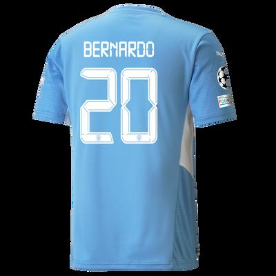 Manchester City Home Shirt 21/22 with Bernardo Silva printing