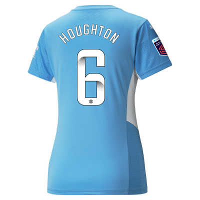 Womens Manchester City Home Shirt 21/22 with Steph Houghton printing