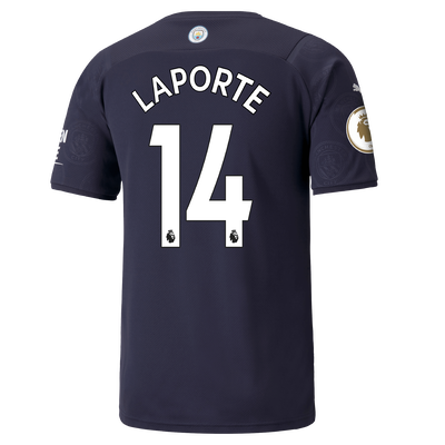 Manchester City 3rd Shirt 21/22 with Aymeric Laporte printing