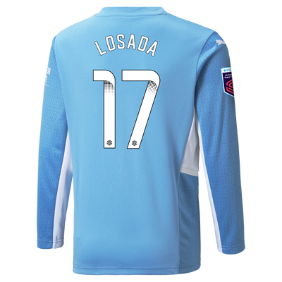 Manchester City Home Shirt Long Sleeve 21/22 with Vicky Losada printing