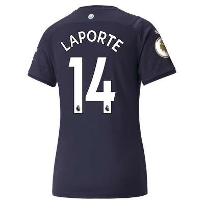 Womens Manchester City 3rd Shirt 21/22 with Aymeric Laporte printing