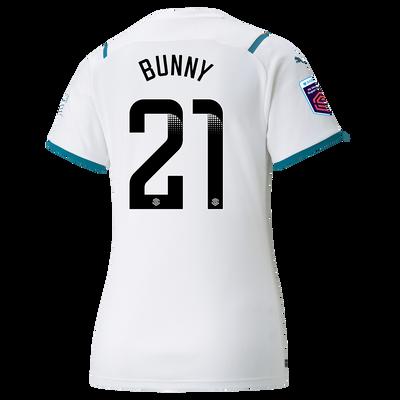 "[Pre-order] Womens Manchester City Away Shirt 21/22 with Khadija ""Bunny"" Shaw printing"