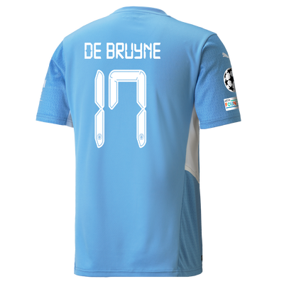 Manchester City Home Shirt 21/22 with Kevin de Bruyne printing