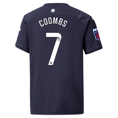 Kids Manchester City 3rd Shirt 21/22 with Laura Coombs printing