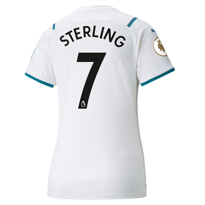 Womens Manchester City Away Shirt 21/22 with Raheem Sterling printing