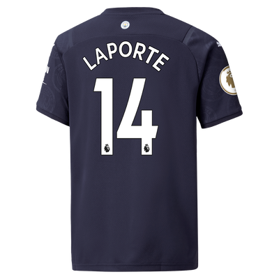 Kids Manchester City 3rd Shirt 21/22 with Aymeric Laporte printing