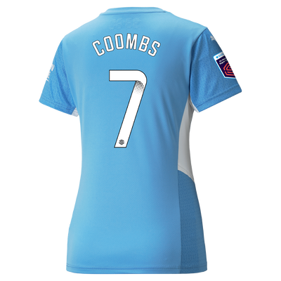 Womens Manchester City Home Shirt 21/22 with Laura Coombs printing