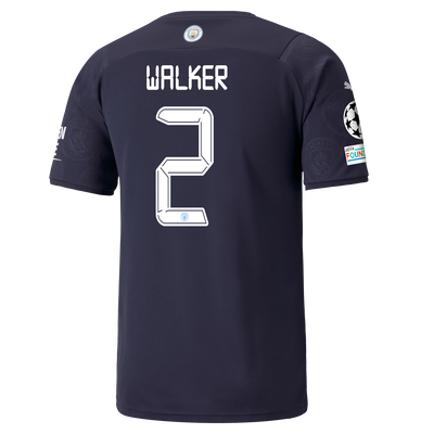 Manchester City 3rd Shirt 21/22 with Kyle Walker printing