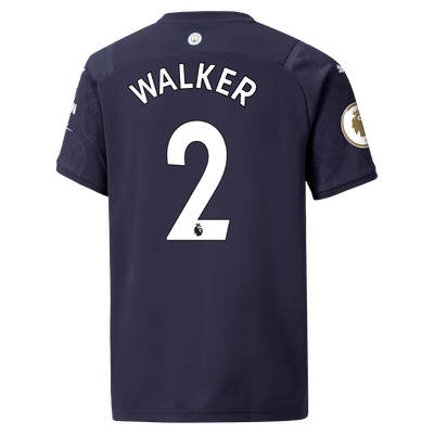 Kids Manchester City 3rd Shirt 21/22 with Kyle Walker printing