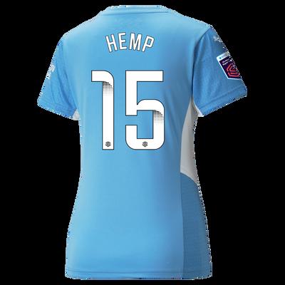 Womens Manchester City Home Shirt 21/22 with Lauren Hemp printing