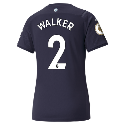Womens Manchester City 3rd Shirt 21/22 with Kyle Walker printing