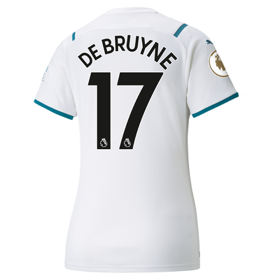 Womens Manchester City Away Shirt 21/22 with Kevin de Bruyne printing