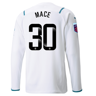 Manchester City Away Shirt Long Sleeve 21/22 with Ruby Mace printing
